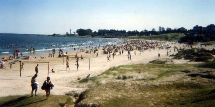 Playa Malvín en Montevideo